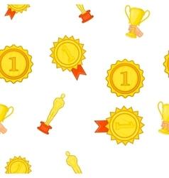 Award elemenrs pattern cartoon style vector
