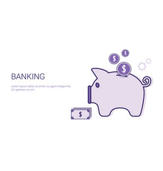 banking business concept money savings template vector image