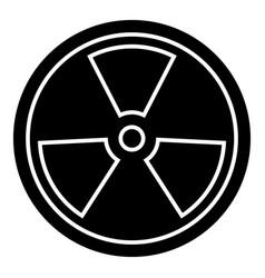 biohazard - dangerous radiation icon vector image