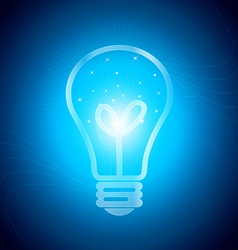 Glowing light in the bulb vector image vector image