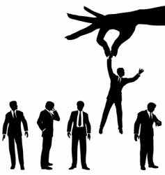 hand selects business man vector image