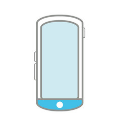 line color smartphone mobile technology to call vector image vector image