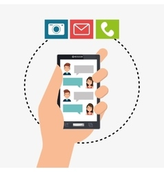 mobile chat design vector image vector image