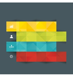 Modern origami style number options banner vector image vector image