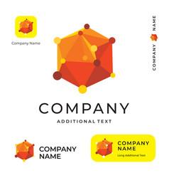 molecule logo modern scientific identity vector image