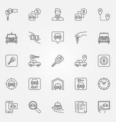 Rent a car icons set vector