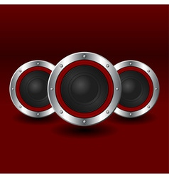 Speakers background vector image