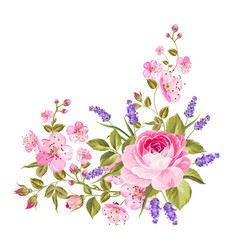 spring flowers garland vector image vector image