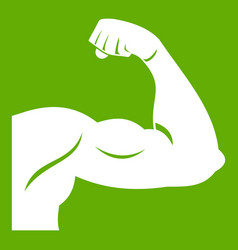 biceps icon green vector image vector image
