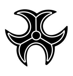 biohazard sign icon black vector image