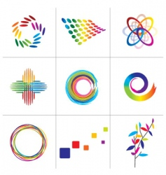 colorful elements vector image vector image