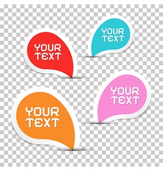 Colorful Stickers Set on Transparent Background vector image