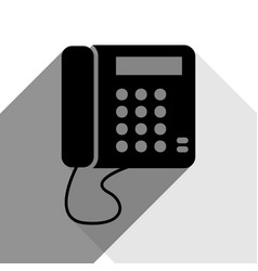 communication or phone sign black icon vector image