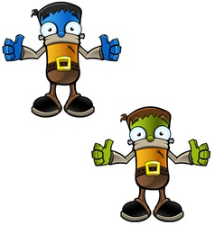 Halloween Monster Two Thumbs Up vector image vector image