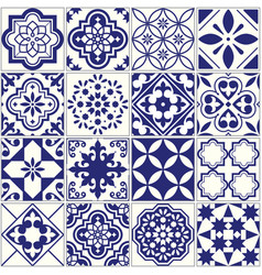 seamless tiles pattern mediterranean floral mosai vector image vector image