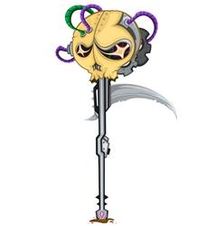 sickle skull spear vector image