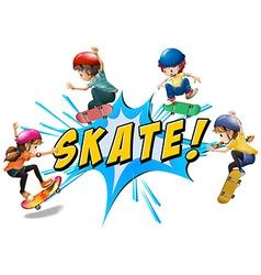 Skate logo vector image