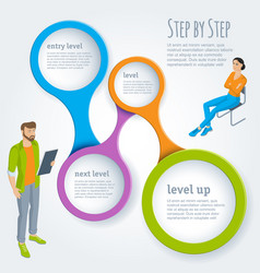 step by step infographics vector image vector image