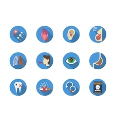 Tobacco addiction round color icons set vector image vector image