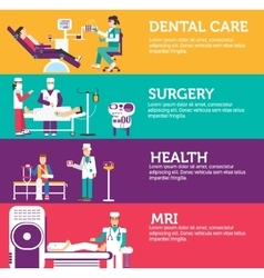 Banners set of clinic dental surgery health care vector