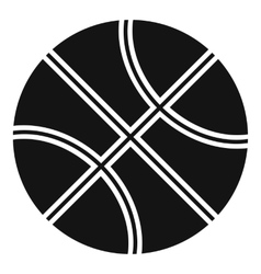 Basketball ball icon simple style vector image vector image