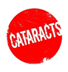 Cataracts rubber stamp vector