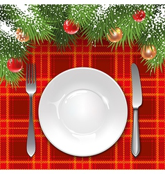 Christmas menu template vector image