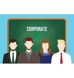 Corporate team business stand vector