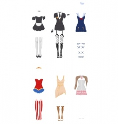 female carnival costumes vector image vector image