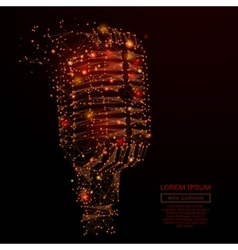 microphone low poly fire vector image