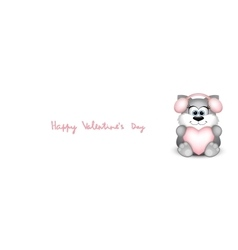 Valentines day card with funny cat vector image