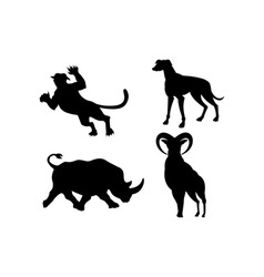 Wildlife Silhouettes vector image vector image