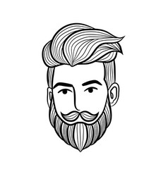 Beard man logo element - vector