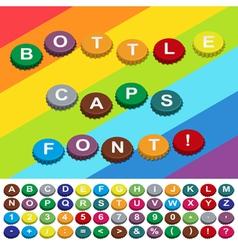 bottle caps font vector image vector image