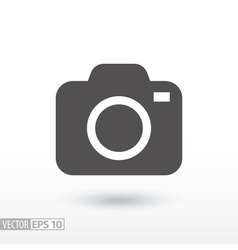 Camera - flat icon vector image vector image