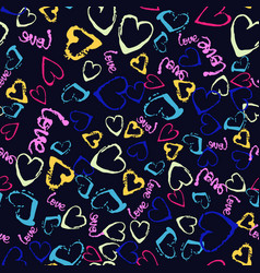 colorful seamless pattern with brush vector image vector image