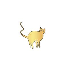 Evil Cat computer symbol vector image vector image