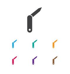 of trip symbol on jackknife vector image
