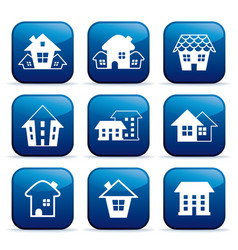 real estate icons on buttons vector image