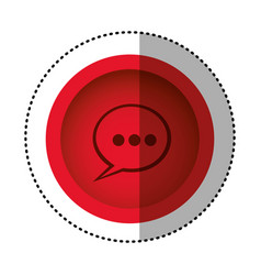 red round symbol chat bubble icon vector image vector image