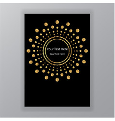 Abstract golden black circle luxury elegant vector