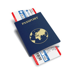 airline passenger and baggage boarding pass vector image