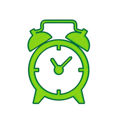 alarm clock sign lemon scribble icon on vector image