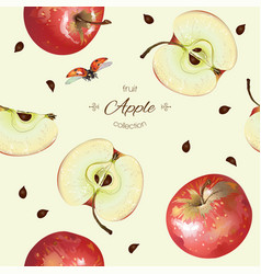 Apple seamless pattern vector