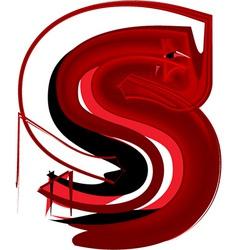 Artistic font letter s vector image