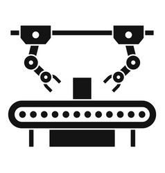 Assembly line robot icon simple style vector