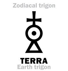 Astrology terra earth trigon vector