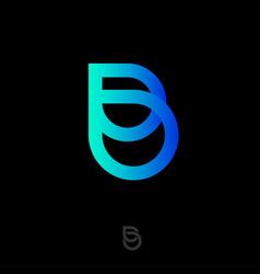 b monogram beauty abstract elements drop vector image