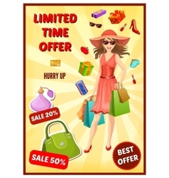Best Offer In Shop Poster vector image