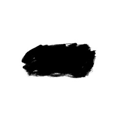 black paint ink brush stroke shape vector image